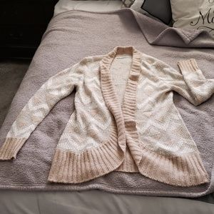 Maurice's Chevron and Shimmer Cardigan